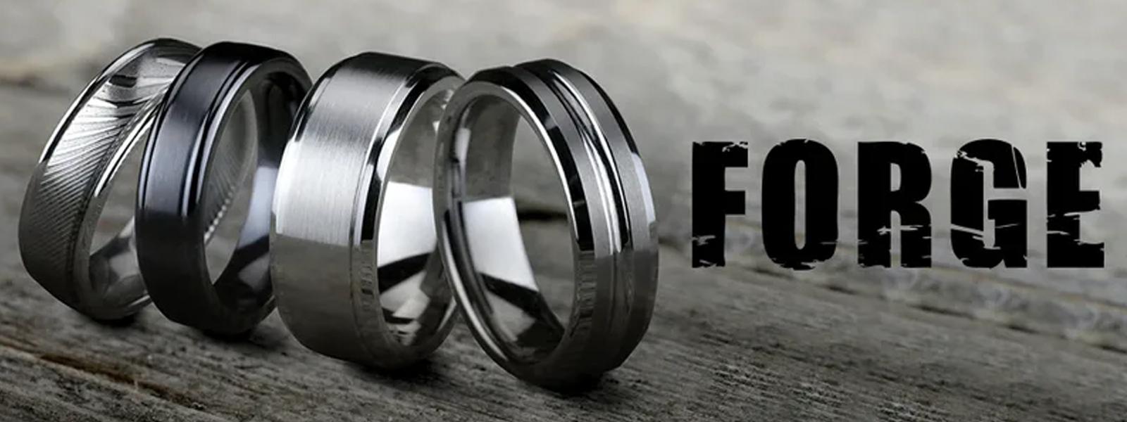 Contemporary Metals Ring | Titanium - Tungsten - Cobalt - Damascus - Stainless Steel - Tantalum
