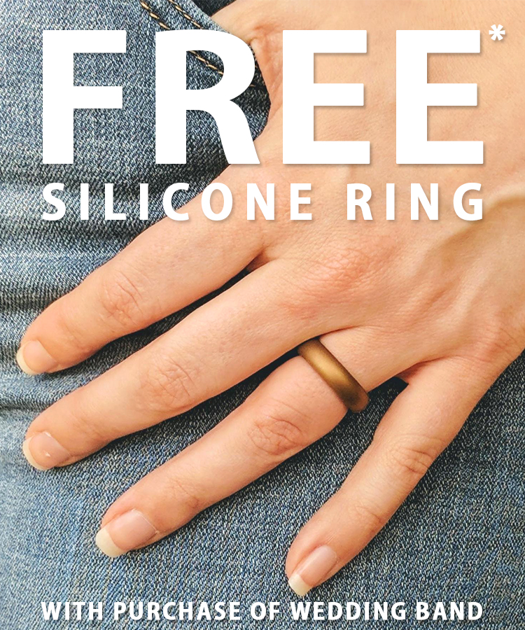 Free Silicon Ring with Wedding Band Purchase at Arezzo Jewelers - Chicago, IL. Arezzo Jewelers Elmwood Park, IL