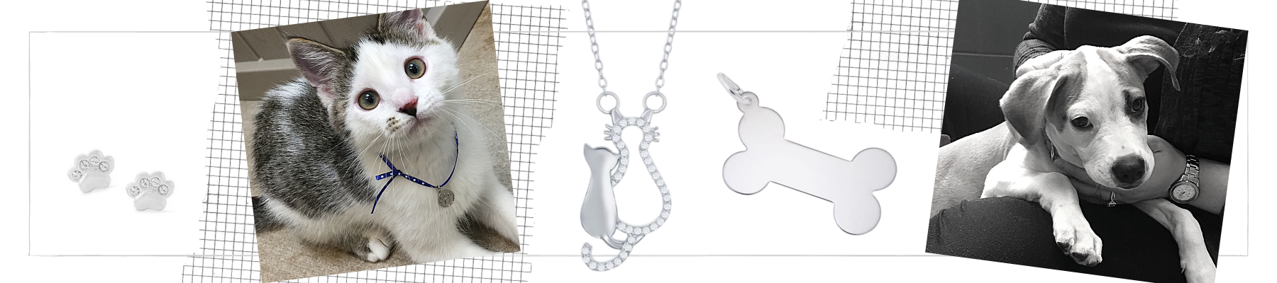 paw prints cats & dogs pet jewelry