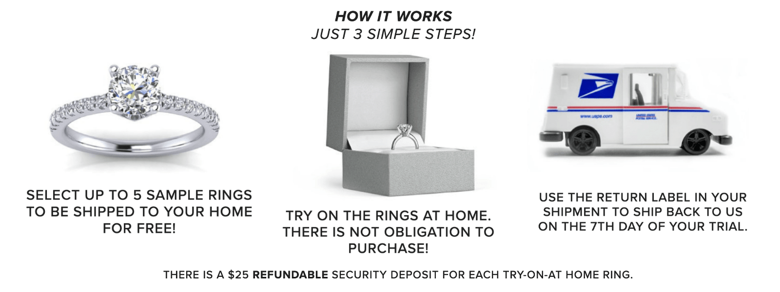 Try-On Engagement Rings at Home for FREE